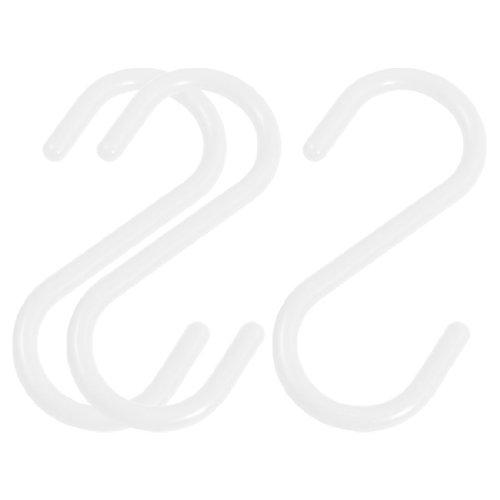 Haushalt Weiß S Haken Kleidung Handtuch Aufhänger Rack hängen Halterung 3 Handtuch Haken Gesetzt