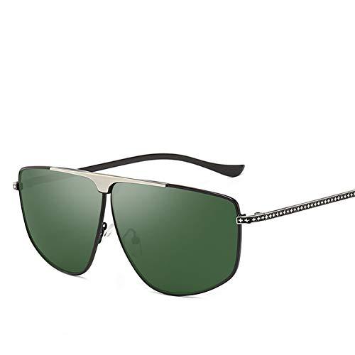 WZYMNTYJ Polarisierte Sonnenbrille Männer Frauen Metallrahmen Brillen Brillen Brillen Blendschutz UV400 HD