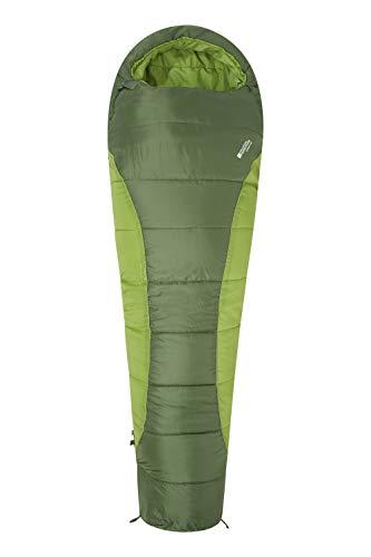 Mountain Warehouse Summit 250 Schlafsack - 22 cm x 40 cm - Mumienschlafsack Grün Left Handed Zip