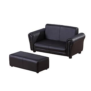 homcom 310-005BK Kindersessel Kindersofa Sofa Sessel Kinder Softsofa Modell2, schwarz