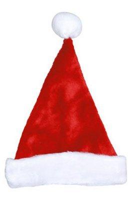Dyno Seasonal Lösungen 0402009azsacc Santa Mütze, Rot & Weiß Plüsch, 17-in. (Plüsch Santa Mütze)
