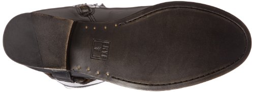 Frye Melissa Harness Inside Zip, Bottes cavalières femme Black Smooth Vintage Leather-76927