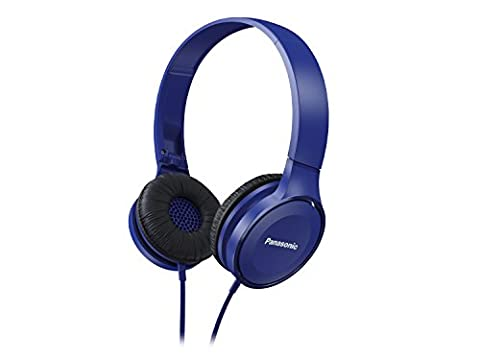 Panasonic Over-the-Ear Stereo Headphones RP-HF100-A with Travel-Fold Design, Matte Finish, Blue