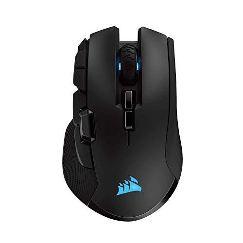 Corsair Ironclaw Wireless RGB, Wiederaufladbare Optisch Gaming Maus mit Slipstream  Technologie (18.000 DPI Optisch Sensor, RGB-LED-Hintergrundbeleuchtung) schwarz