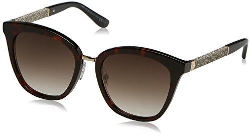 Jimmy Choo Damen FABRY/S JS KBE 53 Sonnenbrille, Schwarz (Hvn Glttrblk/Brown Sf),