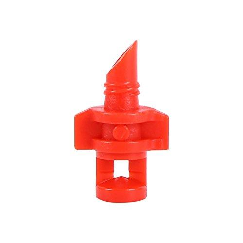 Zerodis Rasensprinkler 50 Stücke Rotierenden Micro Garten Rasen Wasserspray Beschlagen Düse Sprinkler Bewässerungssystem für Hausgarten Terrasse(Rot (360 °)) (Micro Düse)