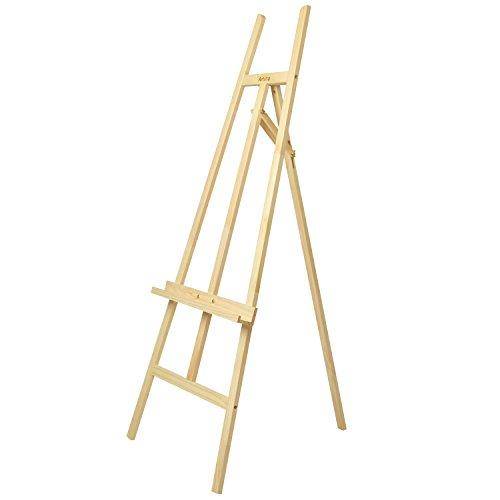 Artina Akademie-Staffelei Sevilla aus Kiefern-Holz für Keilrahmen bis 120cm mit Höhenverstellbarer Malauflage
