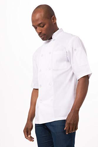 Volnay Chefs Jacket - White Polycotton. Größe: XS (32 - 34