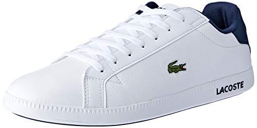 Lacoste Sport Herren Graduate LCR3 Sneakers Weiß (WHT/DK BLU X96) 42 EU