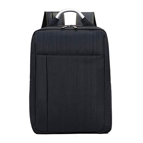 KKCD Laptop-Rucksack Männer Frauen Anti Theft Multifunktions-beiläufiger Laptop-Rucksack mit USB-Gebühr Wasserdichte Reisetasche Notebook Laptop (Farbe : SCHWARZ)