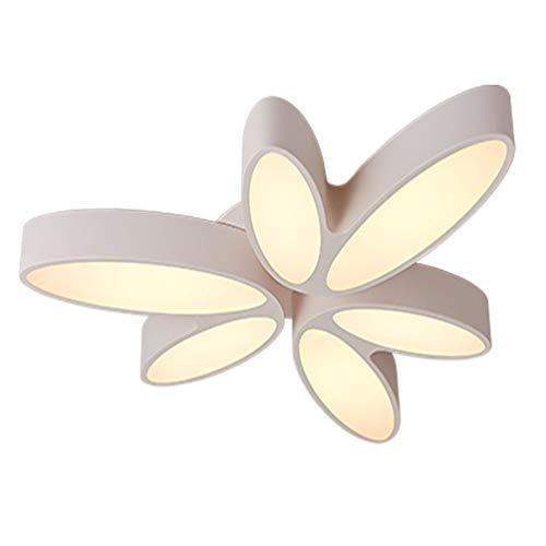 Modern LED Dimmbar Deckenleuchte Weiß Metall Acryl Lampenschirm Innenbeleuchtung Deckenlampe Für Wohnzimmer Schlafzimmer Esszimmer 36W Ø 68Cm*H10cm -