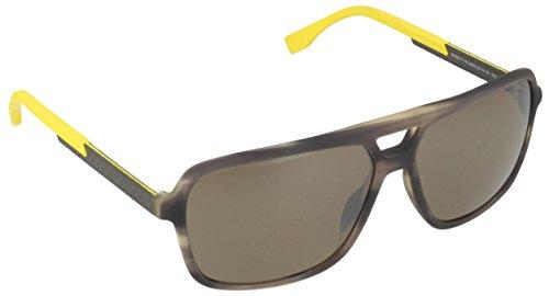 Preisvergleich Produktbild BOSS Hugo Herren Sonnenbrille 0772/S DQ QGI, Schwarz (Bkbei Carbon/Brwsp SLV Pz), 60