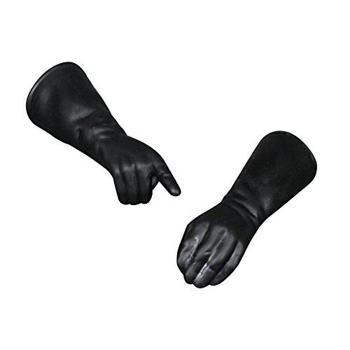 Gazechimp Paar Schwarze Gummi Handschuhe 1:6