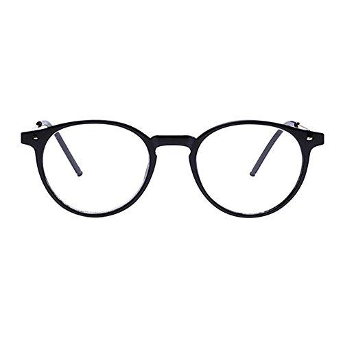 Xinvision Schwarz Runden Voll Rahmen Kurzsichtige Brille, Frauen Männer Nearsighted Eyeglasses Myopia Goggles Spectacles Eyewear -3.50 Stärke