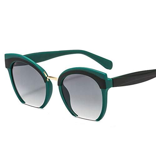 TIANKON Frauen Half Frame Cat Eye Sonnenbrille Männer Fashion Shades Uv400 Retroglasses,C5 gründ