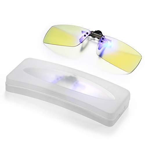 Aroncent Lesebrille Sehhilfe Lesehilfe Aufsatz Clip On Augenoptik Brille Anti Blue Rays Randlose Computer Brille Gross