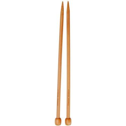 chiaogoo Single Point 13-inch (33cm) Bamboo Dark Patina Knitting Needle; Size US 2 (2.75mm) 1033-2 - Patina Single