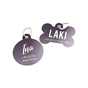 Halsbandanhänger I Adressanhänger I ID-Tag I Hundeanhänger I personalisiert mit Namen und Telefonnummer oder Adresse…