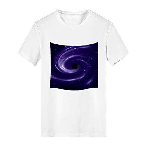 NNVNN Damen Lässige Mode Universum Kreative Print Kurzarm T-Shirt Eltern-Kind Mutter M-XXL ()