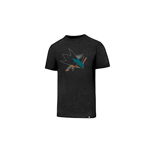 '47 Brand San Jose Sharks Club Logo NHL T-Shirt Schwarz, S