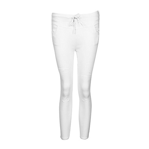 VJGOAL Bursting Casual Pants Pants Women Skinny Ripped Pants High Waist Stretch Slim Pencil Trousers