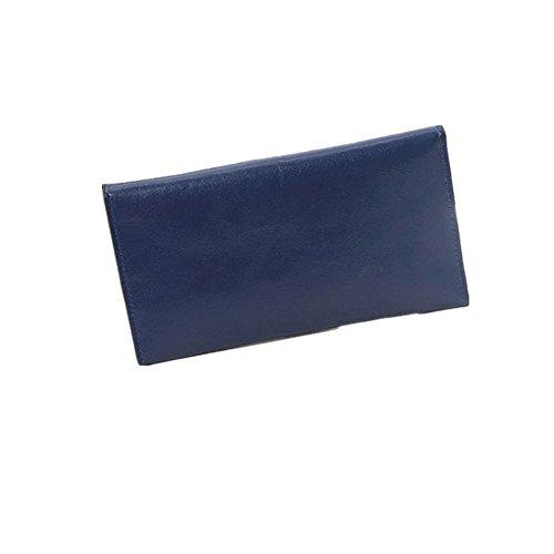 DcSpring Portafoglio e Porta Carte di Credito in Pelle Portamonete sottile per Donna Blu