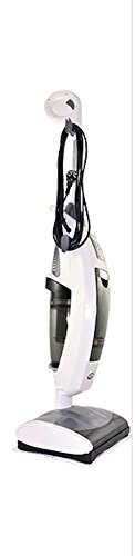 Aqua Laser Bodenwunder Weiß/Schwarz) - 400W Staubsauger, 1500W Dampfreiniger und rotierender Turbobürstensauger