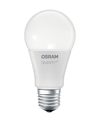 OSRAM SMART+ LED Bluetooth Lampe mit E27 Sockel, RGB Farbwechsel, dimmbar, ersetzt 60W Glühbirne, warmweiß