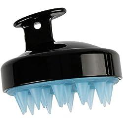 TianranRT Silikon Shampoo Kopfhaut Dusche Körper Waschen Haare Massagen Massagegerät Bürste Kamm (Schwarz)