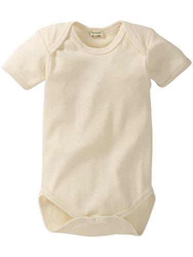 hessnatur Baby Mädchen und Jungen unisex Kurzarm-Body aus reiner Bio-Baumwolle natur - Natur Mädchen