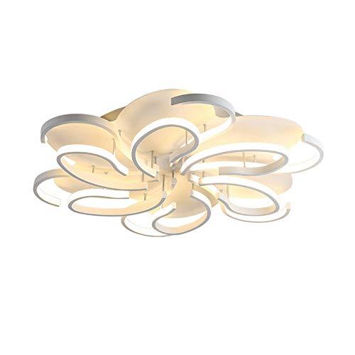 Towero Wohnzimmerdeckenlampe, kreative Modehallenlampe, modernes Arbeitszimmer, dimmbare Acrylbeleuchtung -
