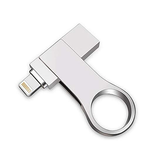 QIA Metall-Rotationsring U-Disk USB 3.0-Flash-Laufwerk für Apple Computer Dual-Use-Handy U-Disk,64GB -