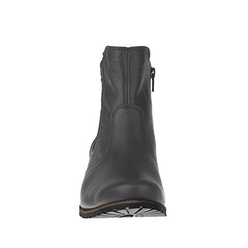 tessamino Damen Stiefelette aus Hirschleder, bequem, Weite H, für Einlagen Grau