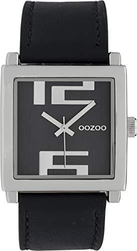Oozoo Damenuhr mit Lederband 34 MM Schwarz/Schwarz C9739