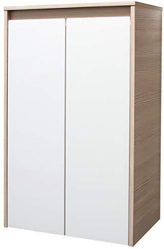 FACKELMANN Midischrank, Pinie/Weiß, 35 x 57 x 89 cm