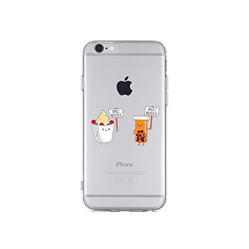 licaso iPhone 6 IP6 Handyhülle TPU mit PRO BIOTECS & Anti BIOTECS Print Motiv - Transparent Cover Schutz Hülle Aufdruck Lustig Funny Druck