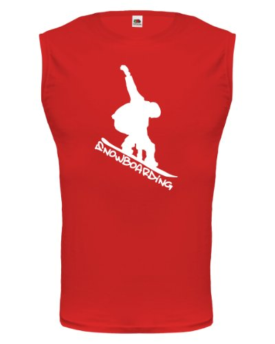 buXsbaum® Tank Top Snowboarding Red-White