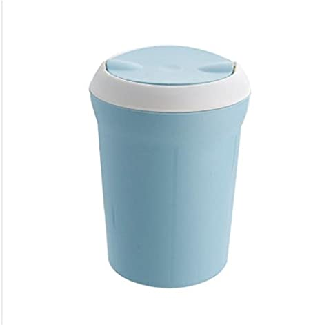 Mülltonnen Mülleimer Mini Mülleimer Bürotische kleine Körbe Haushalt Mülleimer kreative Mülleimer Spezifikationen 17 * 22 * ??12cm blue