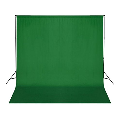 vidaXL Fond Vert pour Studio Photo 3x3 m Toile Studio Photographie Vidéo Coton