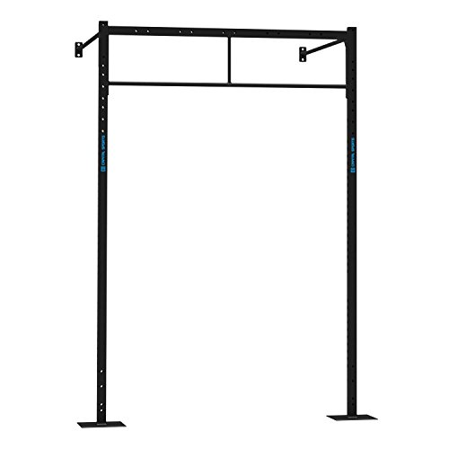 CAPITAL SPORTS Dominate W Base 179.170 Set Wall Mount Wandmontage Power Rack Functional Double Bar Klimmzugstange 179 x 270 x 150 cm 2 x Pull-Up Station Stahl schwarz