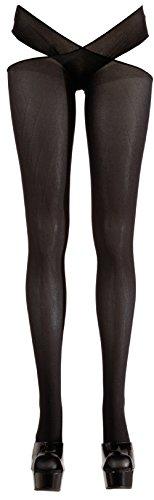 Strumpfhose mit offenem Schritt Schwarz S/M L/XL Cottelli Collection Größe S/M (Offenen Schritt-strumpfhosen)