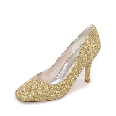RTRY Donna Scarpe Matrimonio Della Pompa Base Glitter Primavera Estate Party Di Nozze &Amp; Sera Stiletto Heel Blu Argento Rubino Oro Nero 3A-3 3/4In US7.5 / EU38 / UK5.5 / CN38