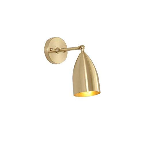 DWLXSH Justierbare Messingende-Licht-Wand-Leuchte-industrielle Wand-Lampe brachte Beleuchtung-Befestigung mit Kegel-Farbton an - Kegel-wand-lampe