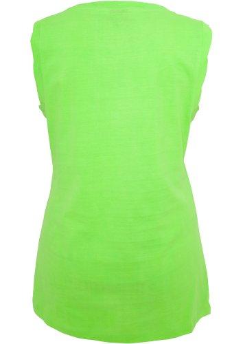 Débardeur Top Long pour Femme Tshirts sans maches Urban Classics vert fluo
