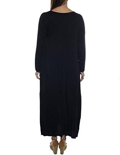 WEBEBOP Damen Kaftan Kleid Schwarz