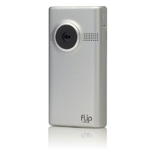 Flip MinoHD Pocket-Camcorder, 3. Generation (5,08 cm (1,5 Zoll) Display, 4 GB interner Speicher, 1 Stunde Aufnahmezeit) silber Mino Camcorder