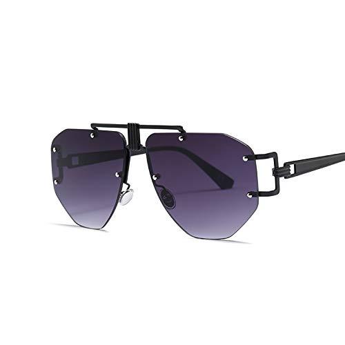 AAMOUSE Sonnenbrillen SonnenbrillenDamenmode randloseSonnenbrillenfür Männer übergroße futuristische Steampunk-Sonnenbrillen