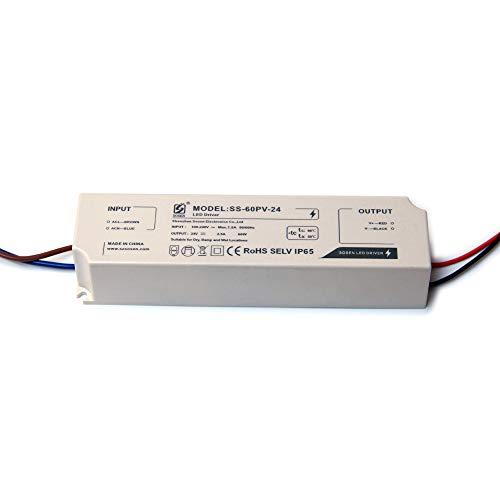 LIGHTEU®, Transformator LED Netzteil Treiber - 60 W, 12 V DC, 5 A, IP 65 - Konstantspannung für LED-Lichtleisten und G4-, MR11-, MR16-LED-Glühlampen -