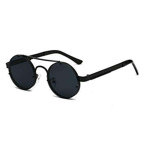 DRHYSFSA-Accessories Damen Sonnenbrillen 100% UV Schutz Klassische Runde Polarisierte Frauen Golden Rim Frame Übergroße Sonnenbrille Funkelnd UV-Schutzbrillen (Farbe : C1) Golden Rim