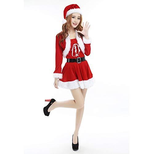 Fräulein Santa Kostüm, Hut, Cape, Kleid, Gürtel, Einheitsgröße , S-L ()
